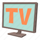 cartoon, display, monitor, screen, technology, television, tv icon