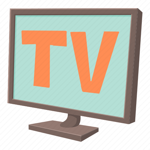 cartoon, display, monitor, screen, technology, television, tv icon