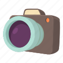 camera, cartoon, digital, equipment, lens, photography, technology icon