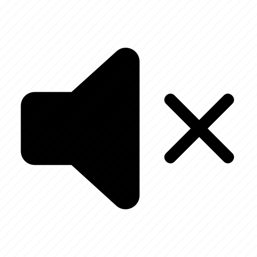 mute, mute button, no sound, noiseless, quiet, silent icon