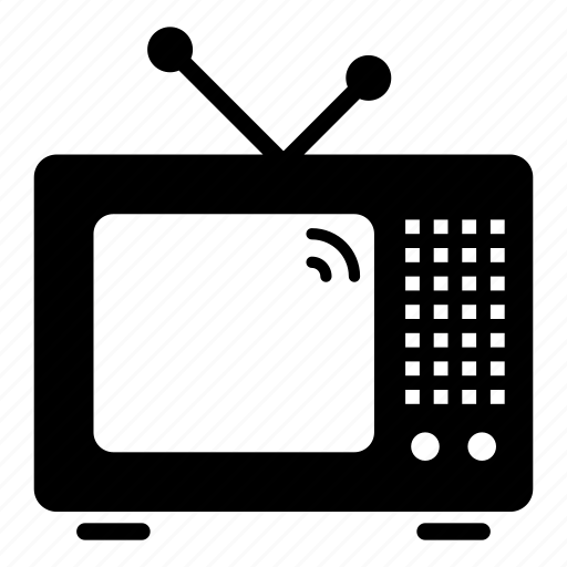 audio, media, multimedia, old, technology, television, video icon