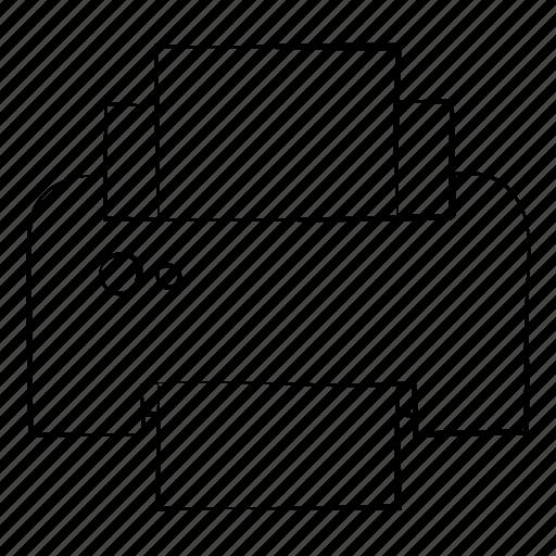 hand drawn, output, print, printer, save icon