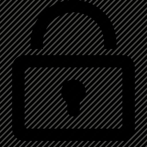 block, lock, login, private icon