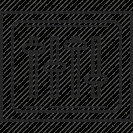 level, media, setting, sound, volume icon