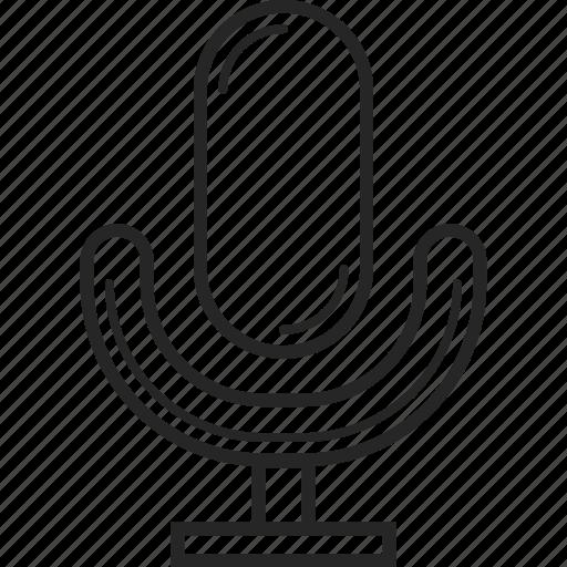 audio, microphone, music, record, sound, speaker icon