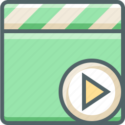 clapper, media, movie, multimedia, play, player, video icon