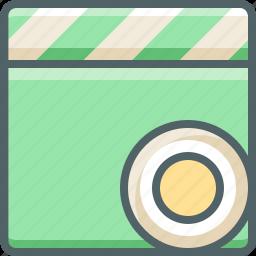 audio, cinema, clapper, media, movie, multimedia, record icon