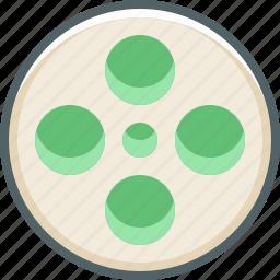 cinema, film, media, movie, multimedia, player, roll icon