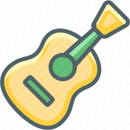 acoustic, equipment, guitar, instrument, multimedia, musical, sound icon