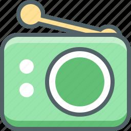 antenna, media, multimedia, radio, signal icon