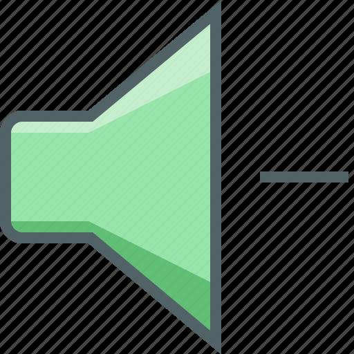 audio, decrease, loudspeaker, media, multimedia, sound, speaker icon