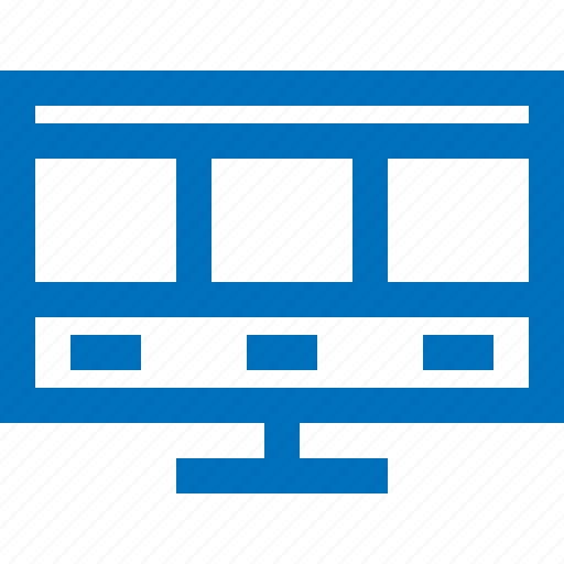 computer, media, monitor, presentation, projector, screen, website icon