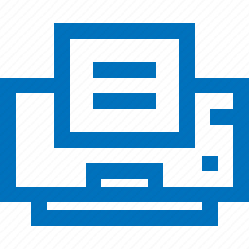 device, document, electronic, office, paper, printer icon