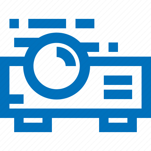 device, electronic, presentation, projector, slide icon