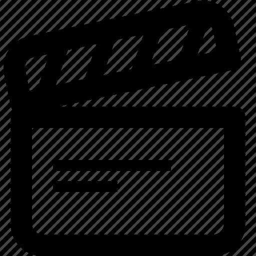 action, board, film, movie, video icon