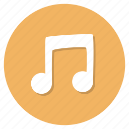 music, musical, note icon