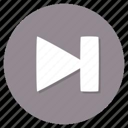 forward, next, skip, track icon