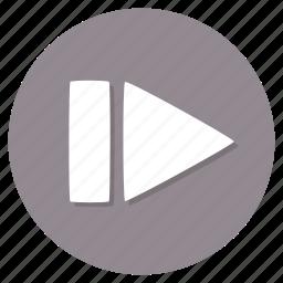 previous, restart icon