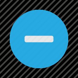 decrease, maths, minus, takeaway icon