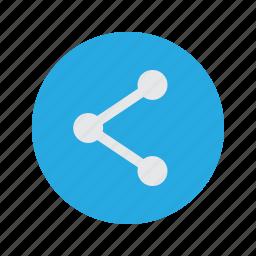 link, media, share, social icon
