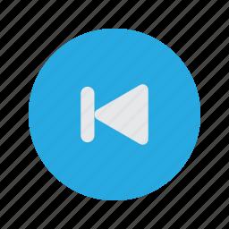 back, navigate, previous, rewind, skip icon