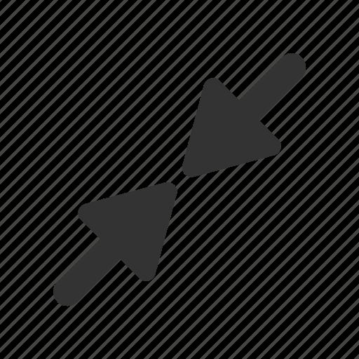 decrease, minimise, shrink, small icon
