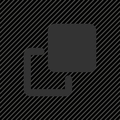 copy, enlarge, maximise, popout icon