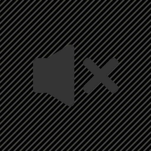 mute, off, quiet, silent, sound, speaker icon