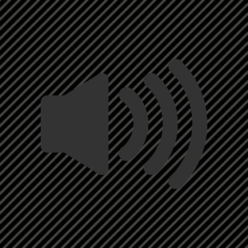 high, music, sound, speaker, volume icon
