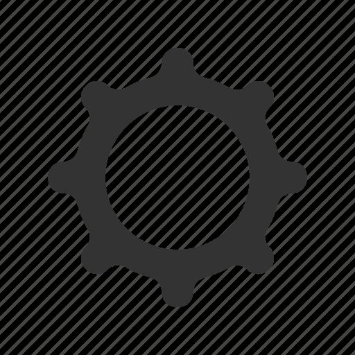 cog, gear, menu, options, settings, wheel icon