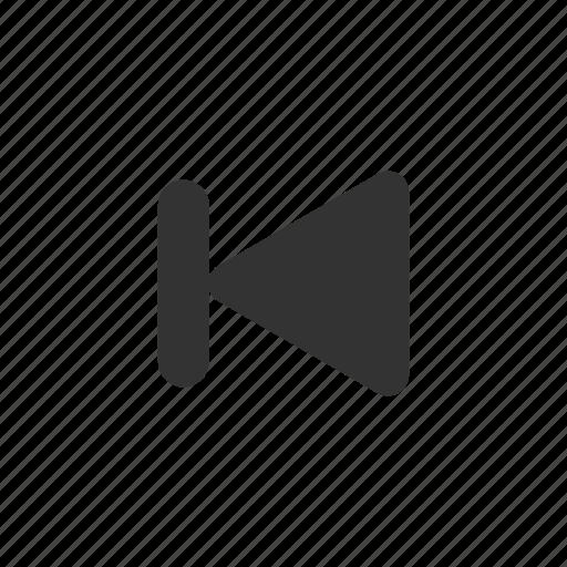 back, jump, previous, rewind, skip icon
