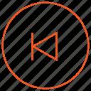 audio, back, media, music, player, skip, video