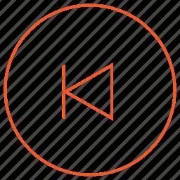 audio, back, media, music, player, skip, video icon