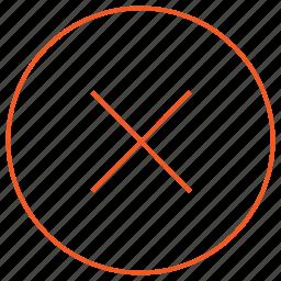 close, error, media, music, no, player, wrong icon
