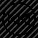 backward, media player, previous, skip icon