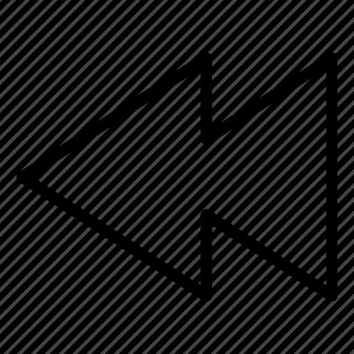 Backward, media, player, rewind icon - Download on Iconfinder