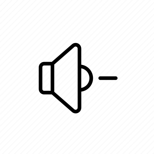 lower volume, volume button, volume down, volume symbol, volume-down icon