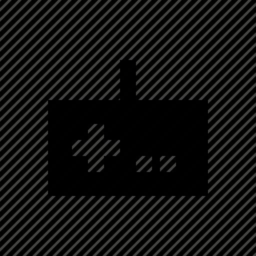electronics, gamepad, hardware, media, multimedia, wire icon