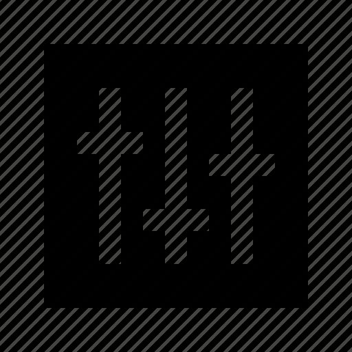 electronics, hardware, horizontal, media, mixer, multimedia icon