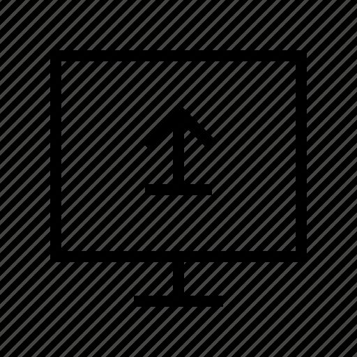 electronics, hardware, media, multimedia, upload icon