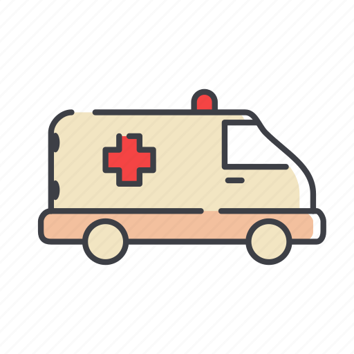 ambulance, clinic, health, transport, truck, vehicle icon
