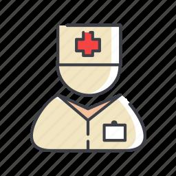 assistant, avatar, care, female, help, nurse, practical icon