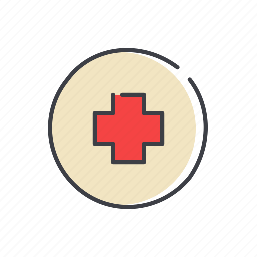 circle, close, cross, direction, orientation, red, sign icon