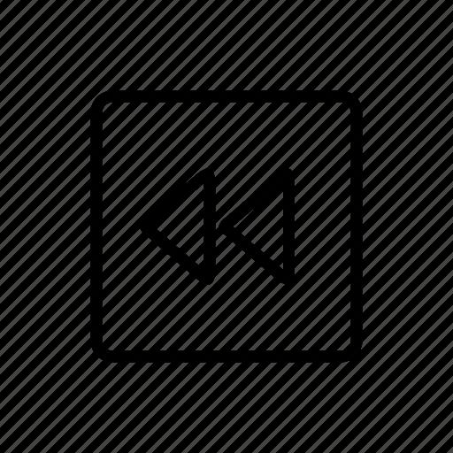 backward, controls, media icon