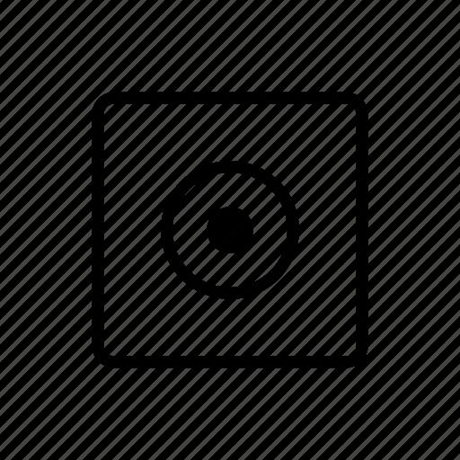 controls, media, record icon