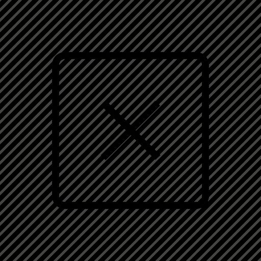 cross, delete, media, remove icon