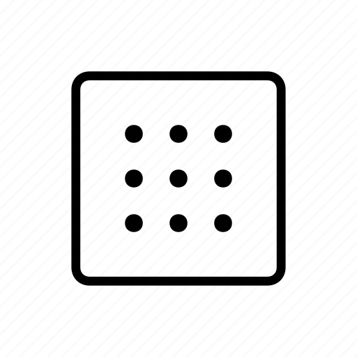 cluster, grid, group, media, raster, type icon