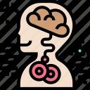 abnormal, brain, illness, human, anatomy icon