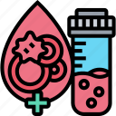 blood, count, laboratory, test, tube icon