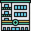 hospital, healthcare, center, office, building icon